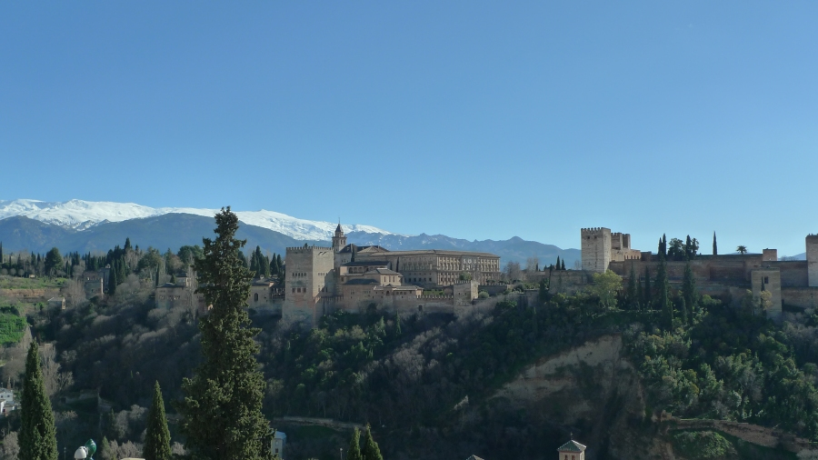 Vista de La Alhambra do Albayzín