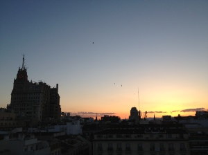 Madrid Hotel oscar por do sol