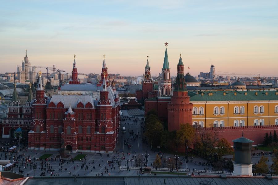 Vista da Praça Vermelha e Kremlin