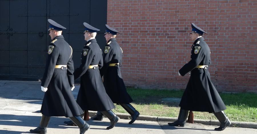 Troca da guarda russa no Kremlin