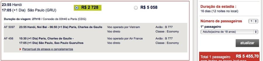 Air France HANOI SAO