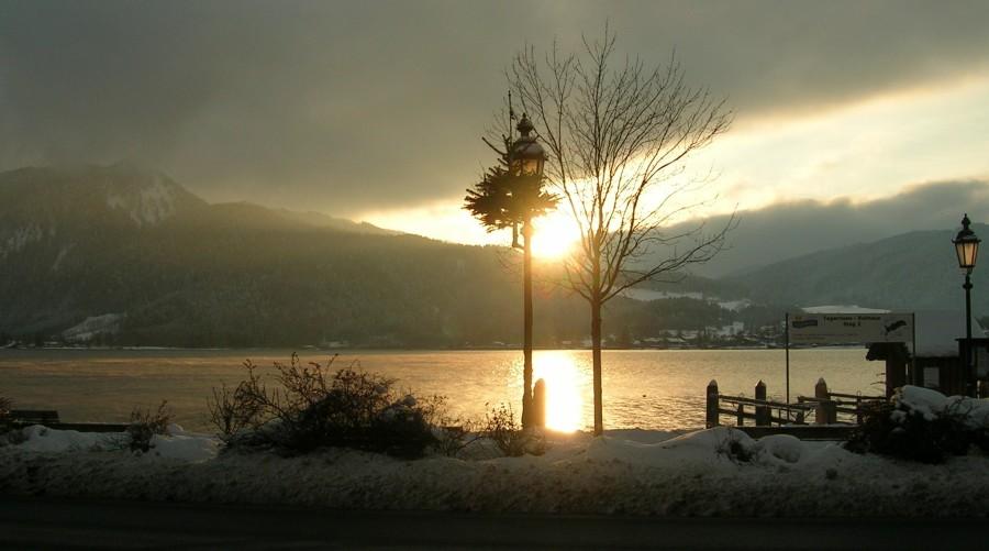 Final de tarde no lago Tegernsee