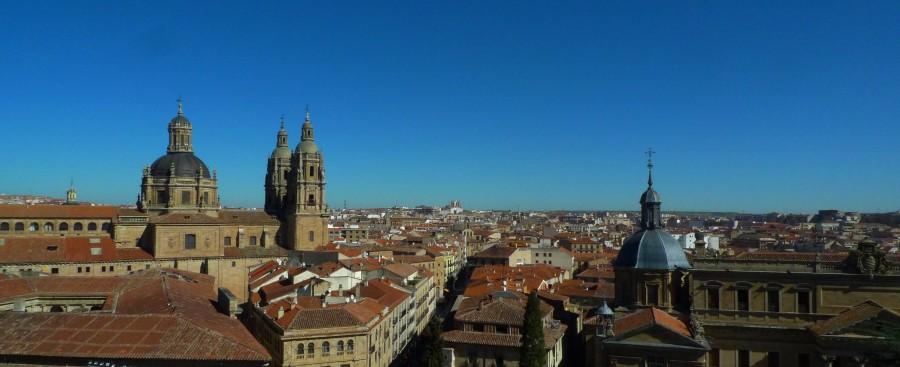Vista de Salamanca do alto de uma das torres da Catedral