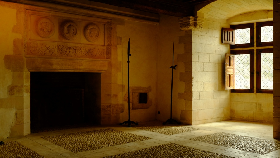 Uma das habitações de Puyguilhem, restaurado e conservado