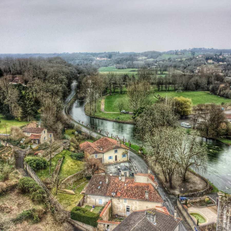 Vista da torre do castelo de Bourdeilles