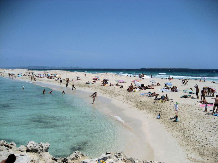 Cartão postal mais conhecido de Formentera, Ses Illetes.