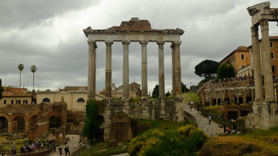 Um dos fóruns de Roma